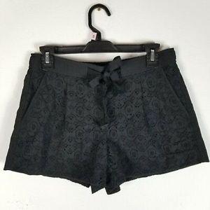 LOFT Black Lace Shorts